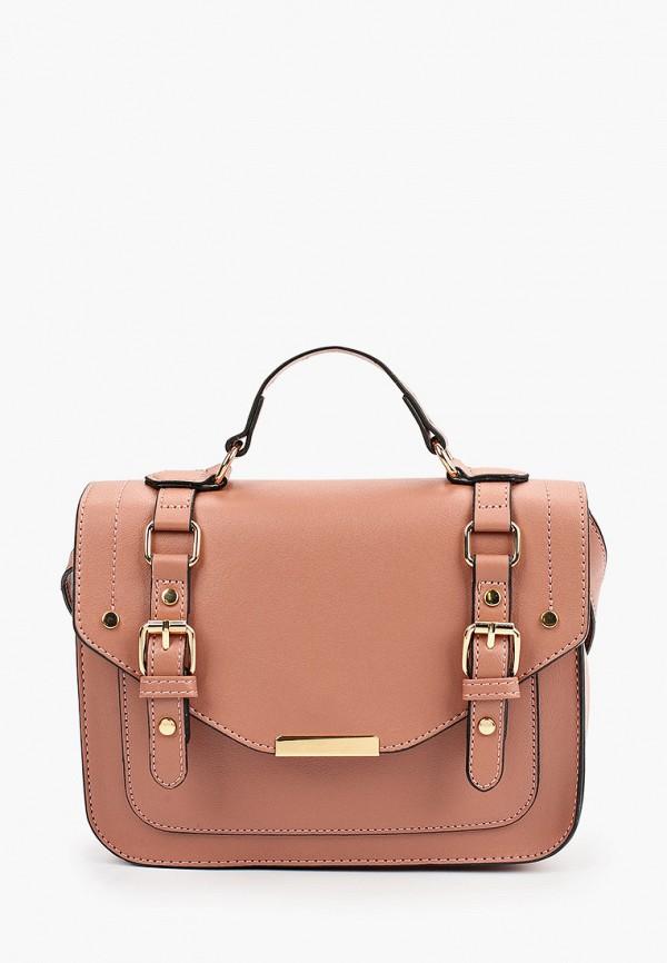 женская сумка с ручками zolla, розовая