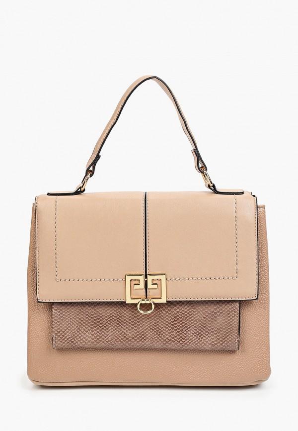 женская сумка с ручками zolla, бежевая