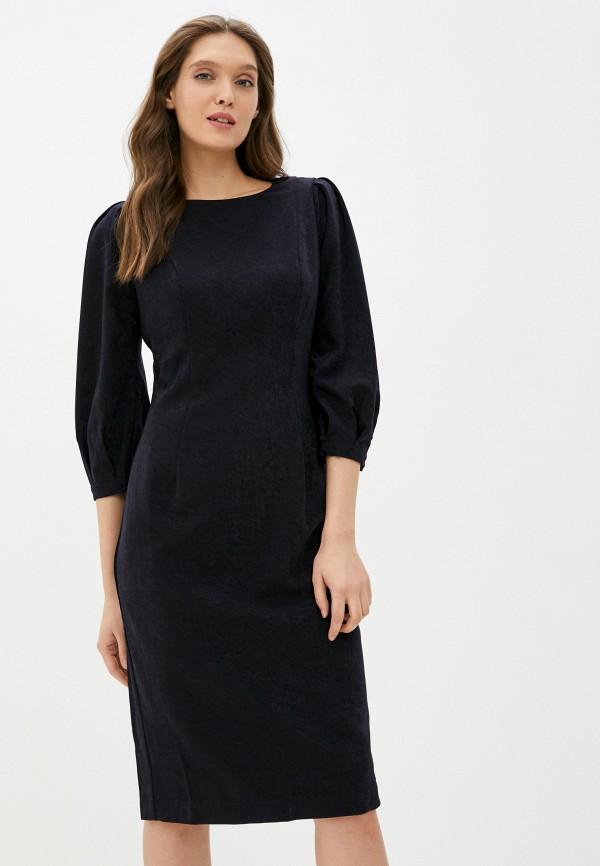 женское платье-футляр emilia dell'oro, синее