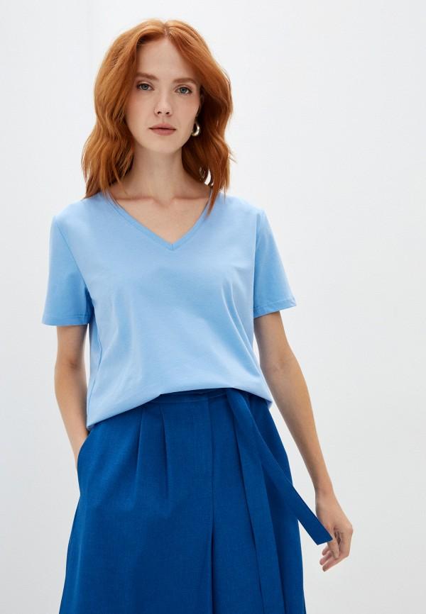 женская футболка magic people, голубая
