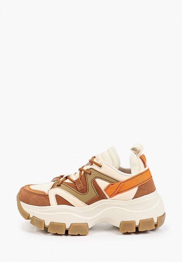 женские низкие кроссовки mascotte, коричневые