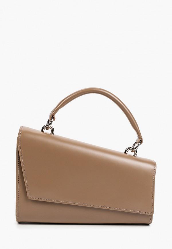женская сумка с ручками alla pugachova, бежевая