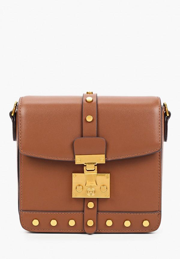женская сумка через плечо alla pugachova, коричневая