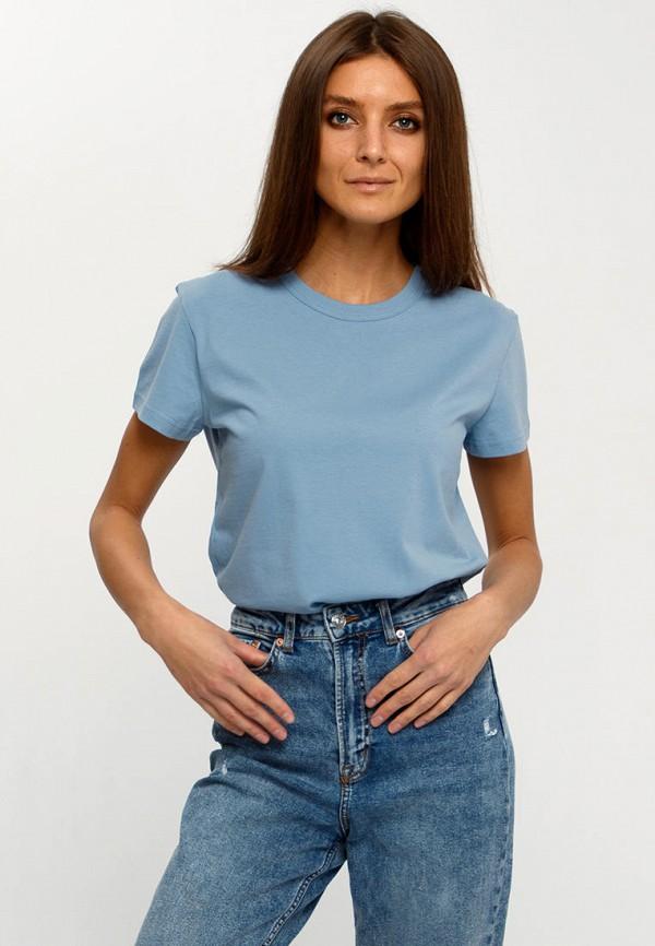 женская футболка апрель, голубая