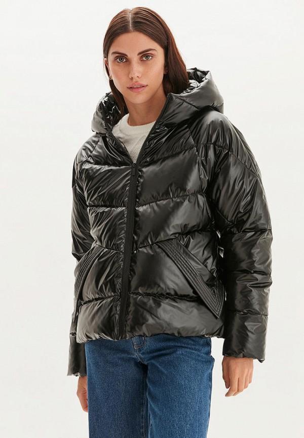 женская утепленные куртка love republic, черная