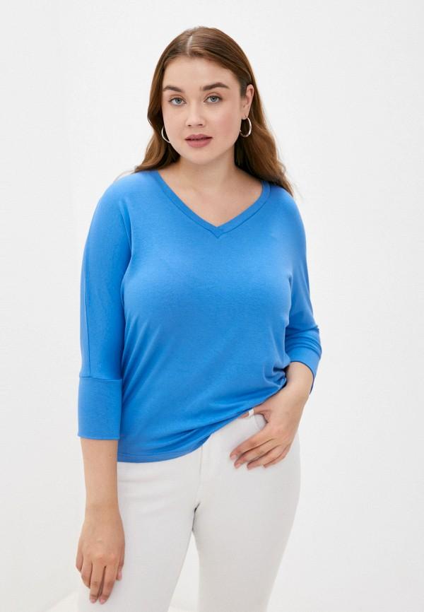 женский лонгслив lina, голубой
