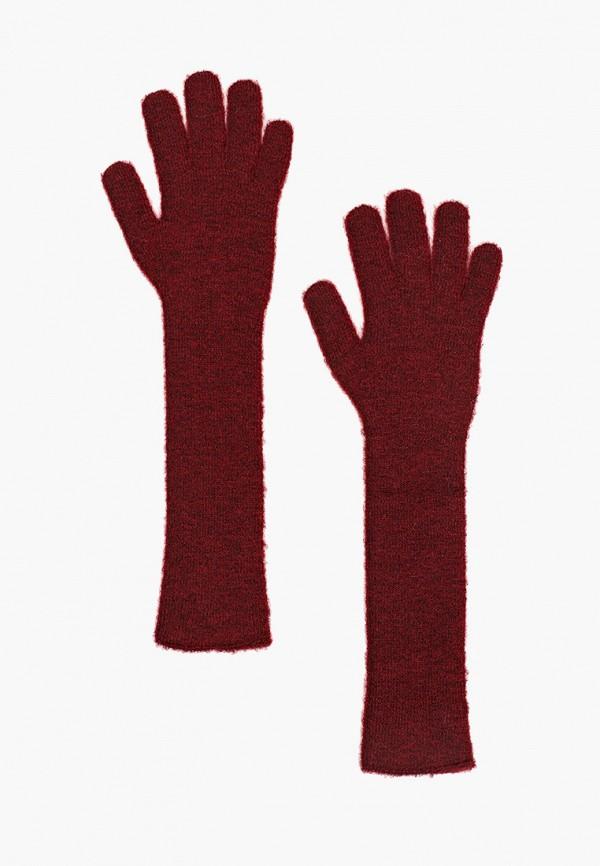 женские текстильные перчатки canoe, бордовые