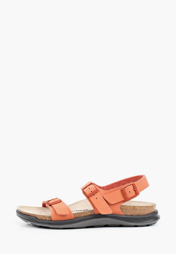 женские сандалии birkenstock, оранжевые