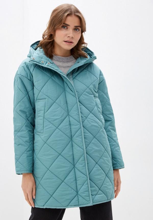 женская утепленные куртка baon, бирюзовая