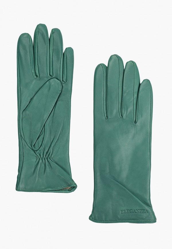 женские кожаные перчатки eleganzza, зеленые