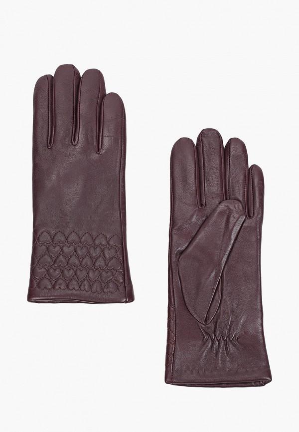 женские кожаные перчатки labbra, фиолетовые