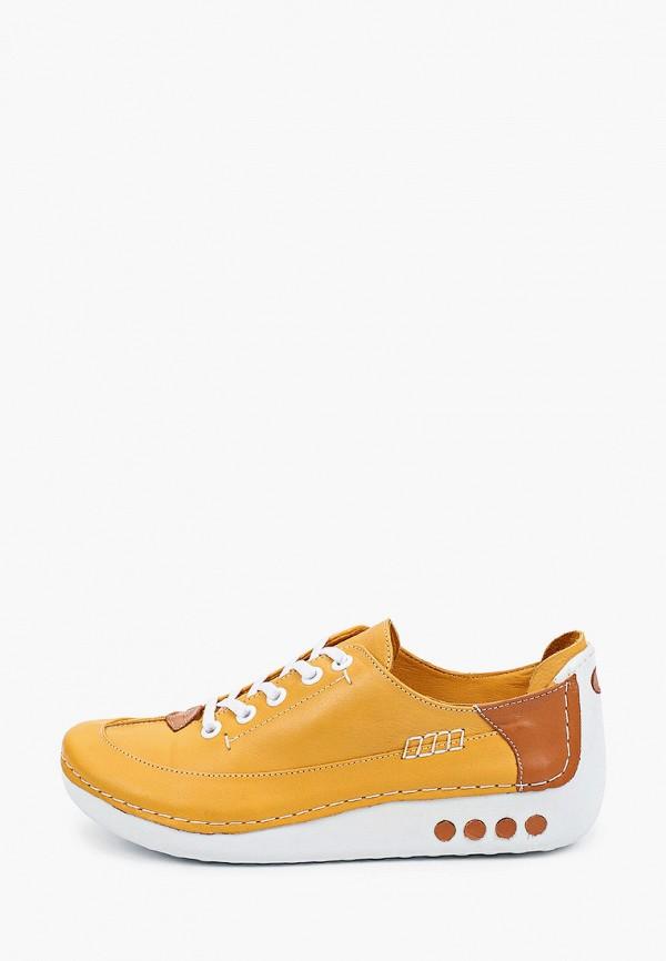 женские низкие ботинки shoiberg, желтые