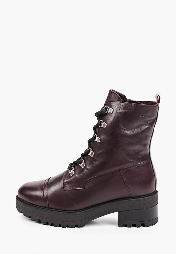 женские высокие ботинки wonders, бордовые