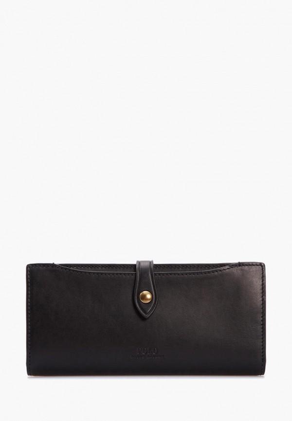 женский кошелёк polo ralph lauren, черный