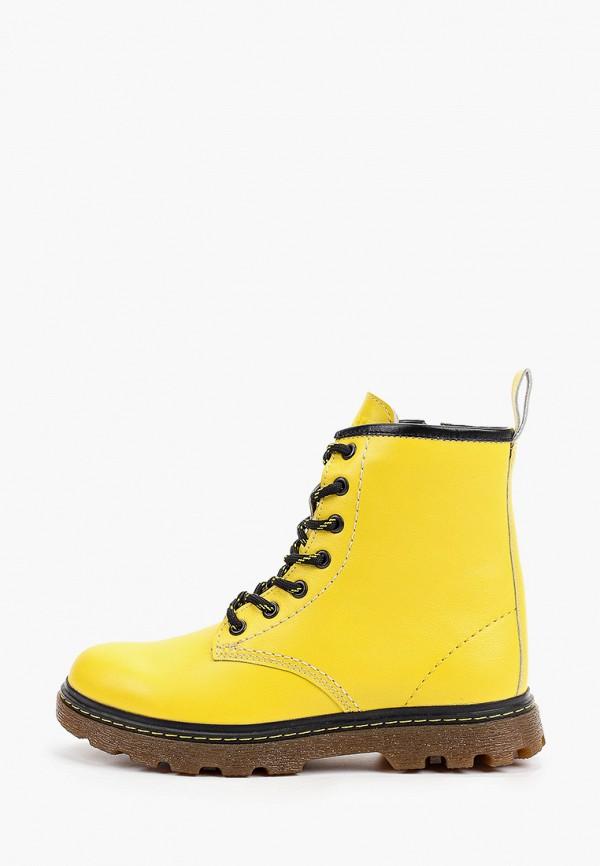 женские высокие ботинки shoiberg, желтые
