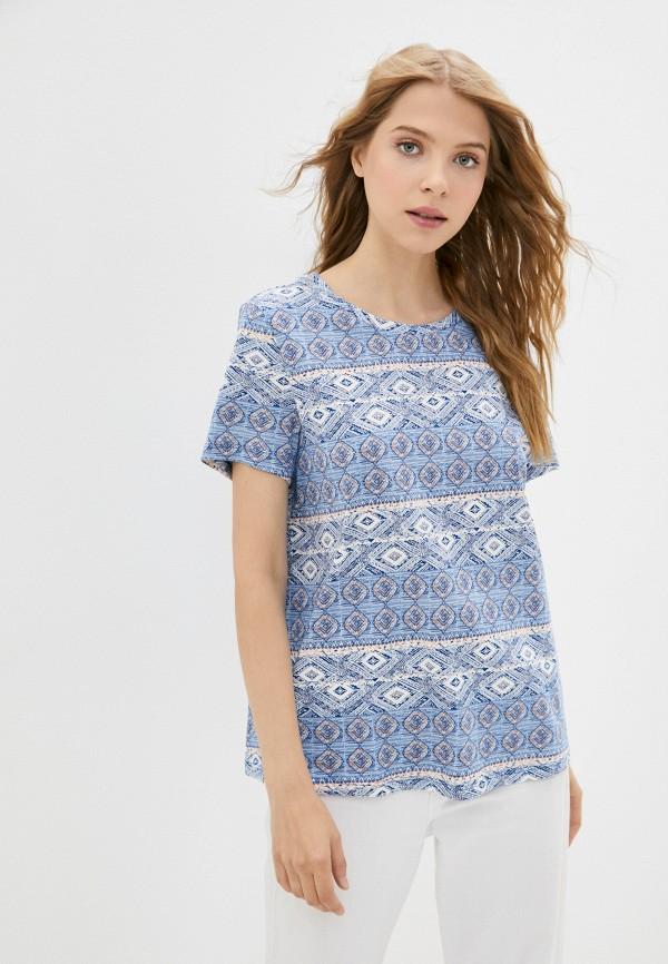 женская футболка colin's, голубая