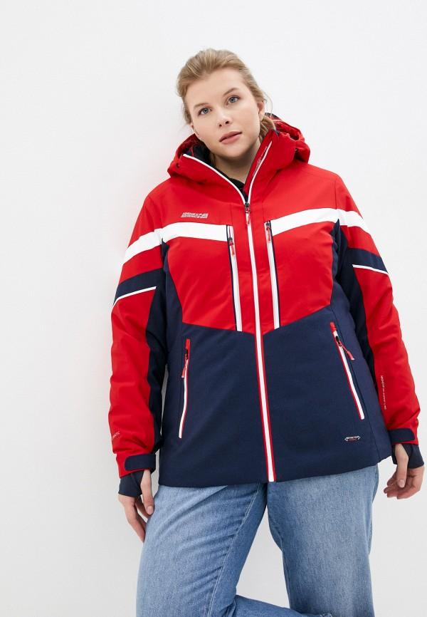 женская горнолыжные куртка high experience, красная