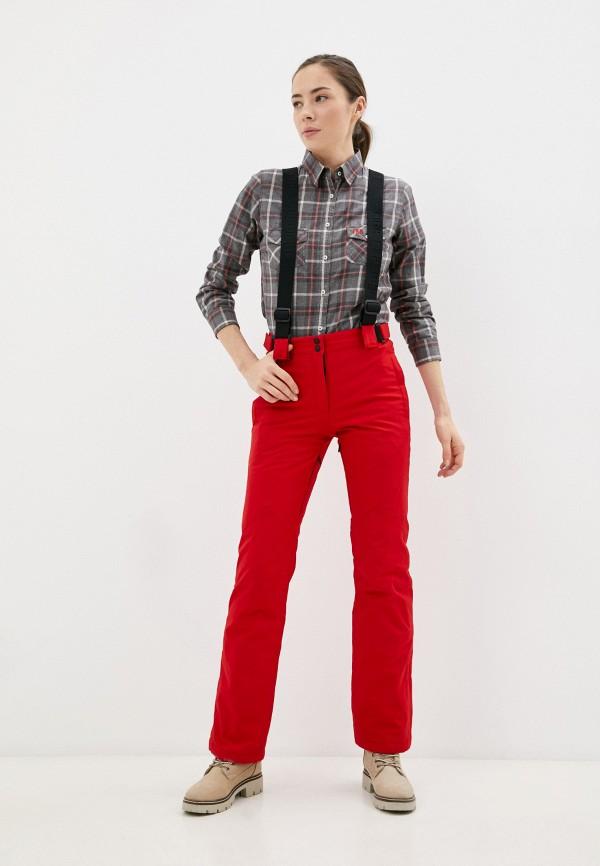 женские горнолыжные брюки high experience, красные