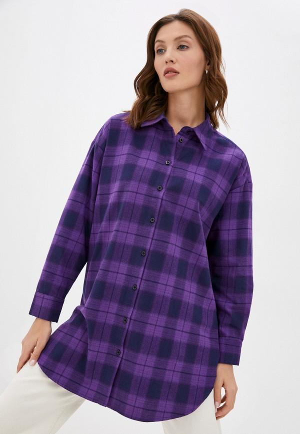 женская рубашка с длинным рукавом baon, фиолетовая