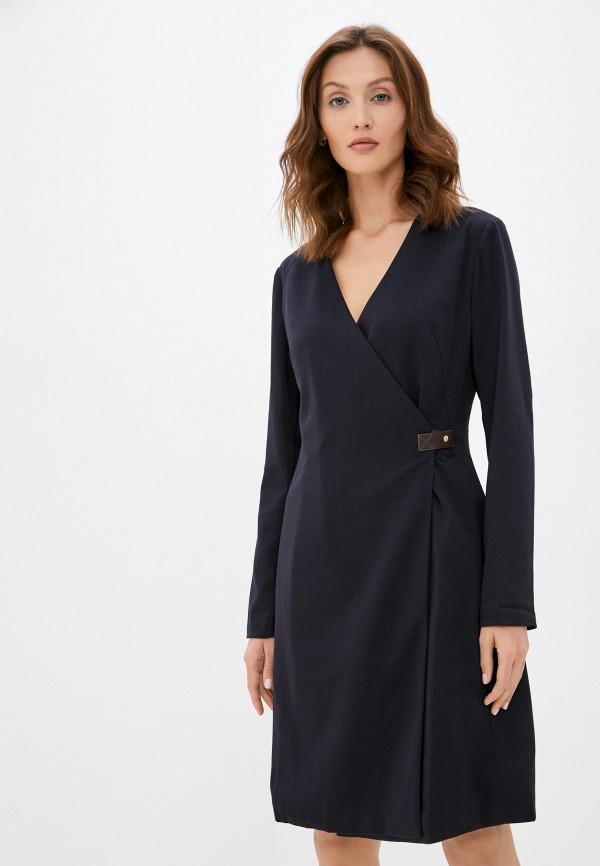 женское платье с запахом baon, синее
