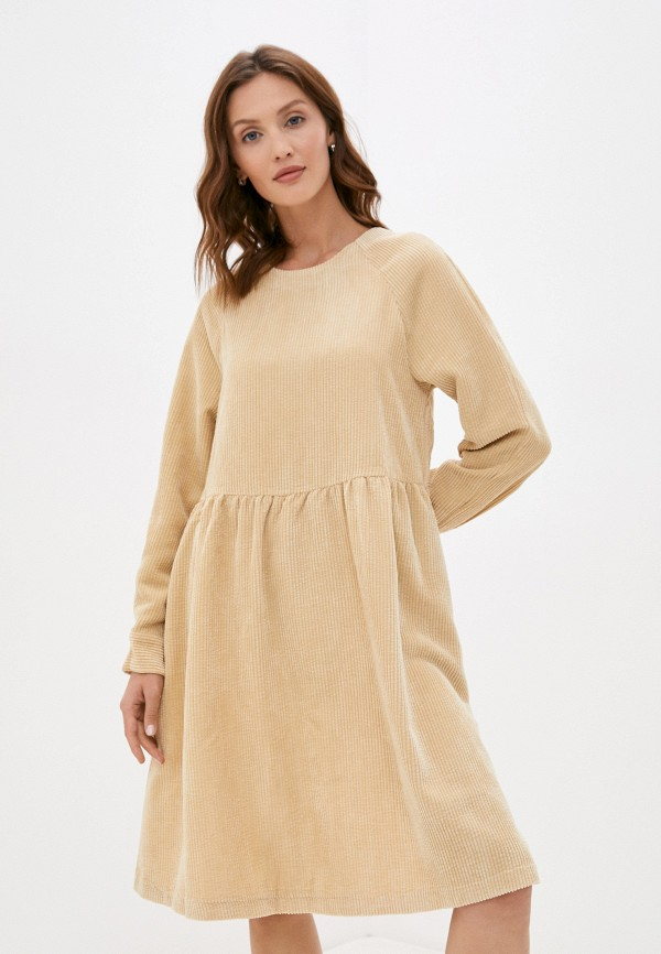 женское повседневные платье baon, бежевое