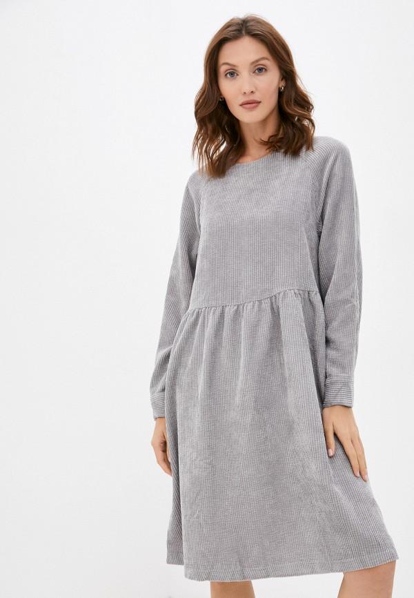 женское повседневные платье baon, серое