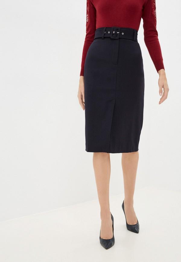 женская узкие юбка baon, синяя