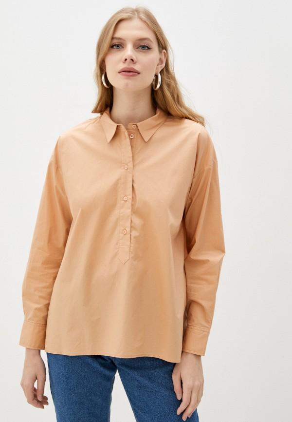 женская блузка с длинным рукавом baon, бежевая