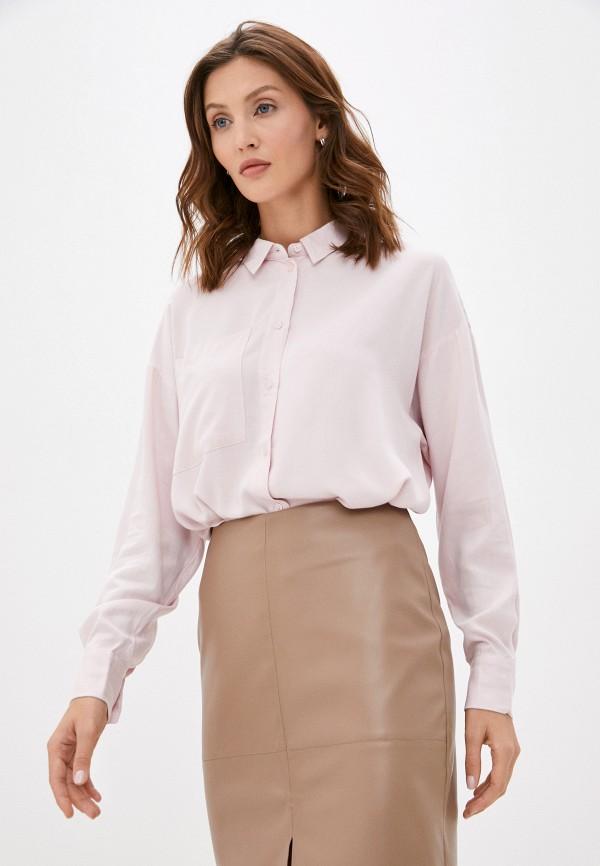 женская блузка с длинным рукавом baon, розовая