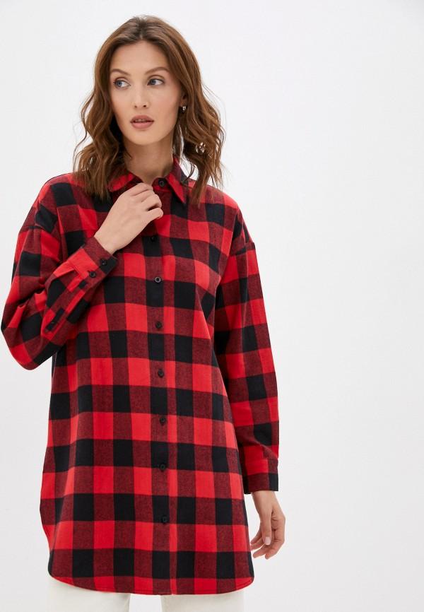 женская рубашка с длинным рукавом baon, красная