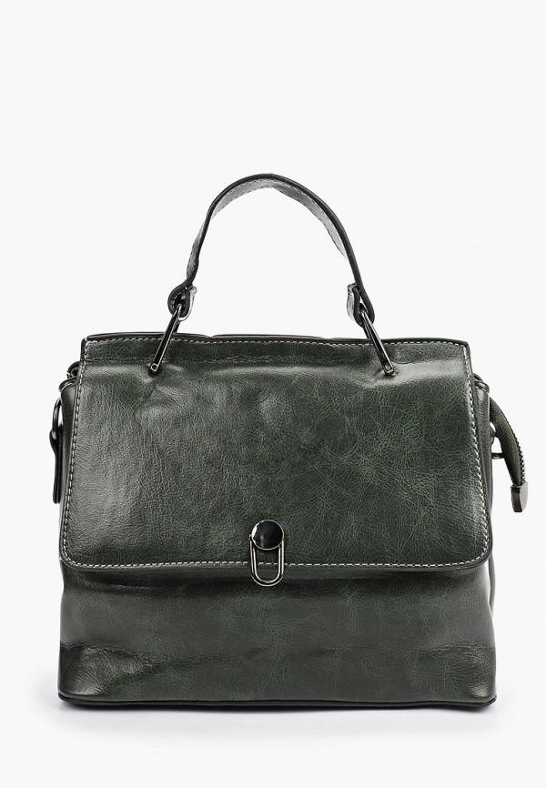 женская сумка с ручками артми, зеленая