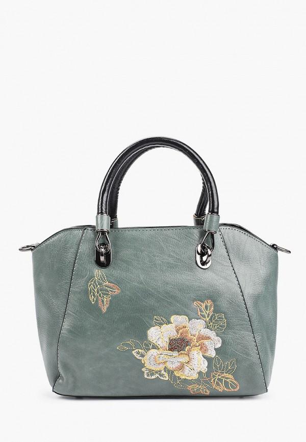 женская сумка с ручками артми, бирюзовая