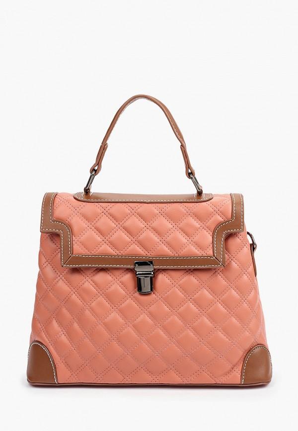 женская сумка с ручками артми, розовая
