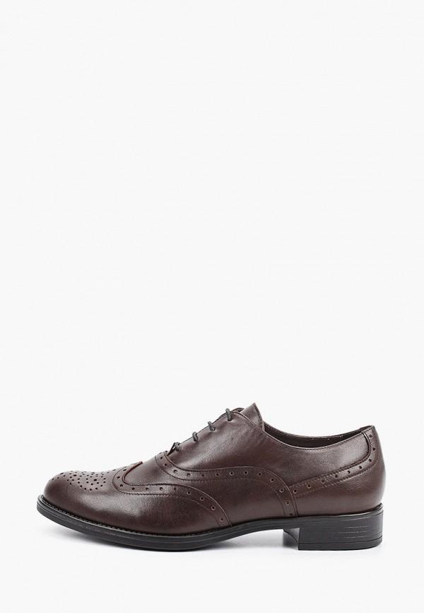 женские ботинки-оксфорды argo, коричневые