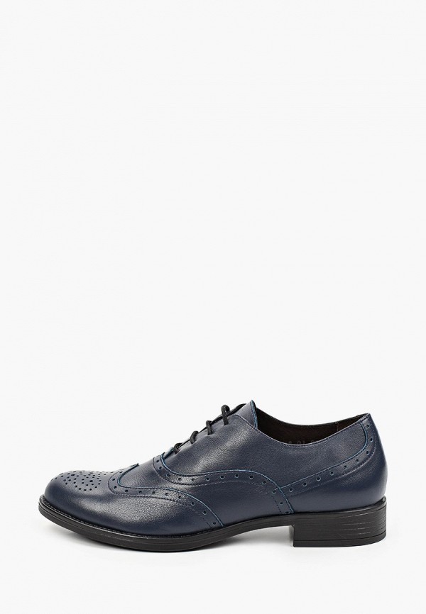 женские ботинки-оксфорды argo, синие