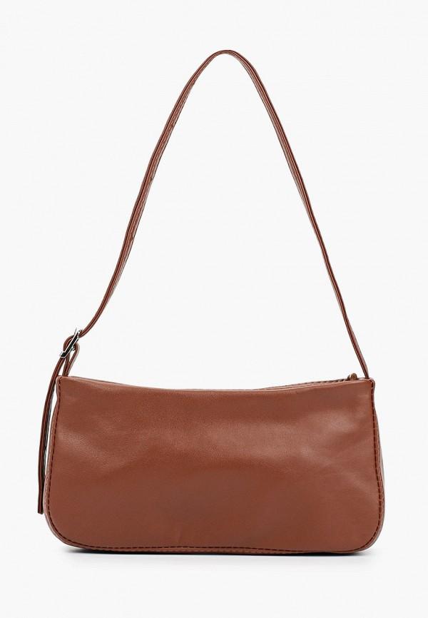 женская сумка через плечо lokis, коричневая