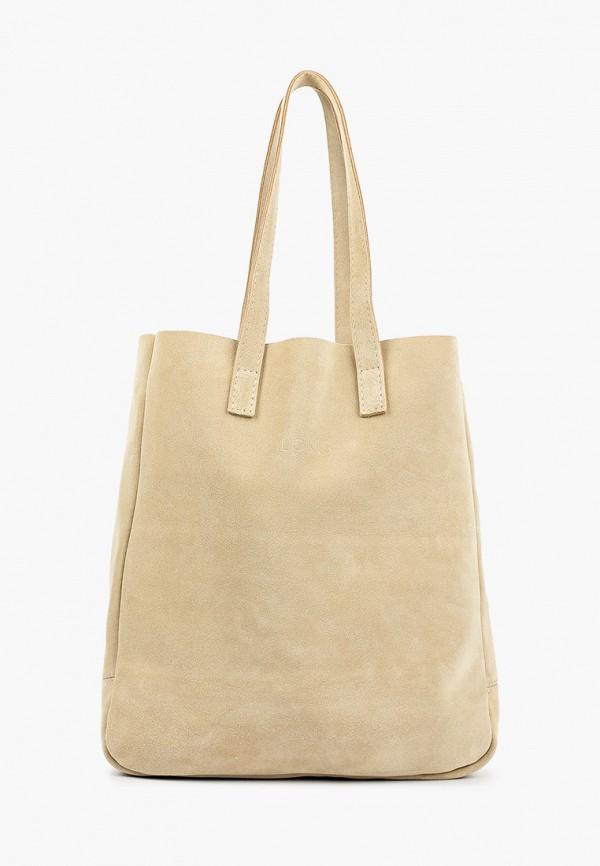 женская сумка с ручками lokis, бежевая