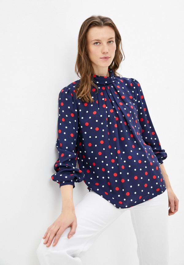 женская блузка с длинным рукавом sabrina scala, синяя