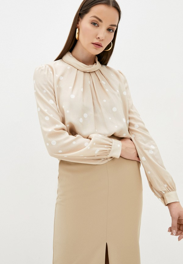 женская блузка с длинным рукавом sabrina scala, бежевая