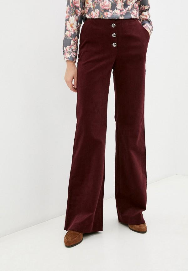 женские повседневные брюки belucci, бордовые