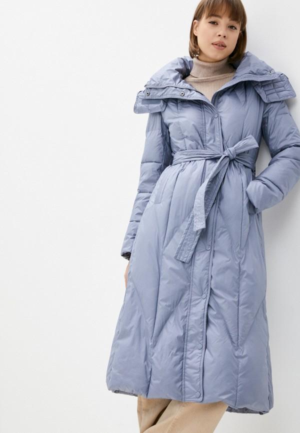 женская утепленные куртка belucci, голубая