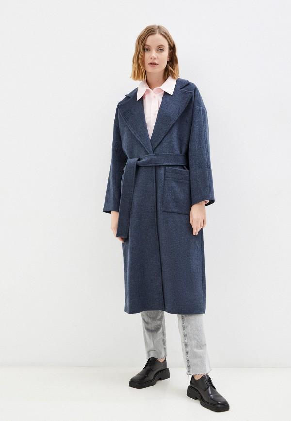женское пальто belucci, синее