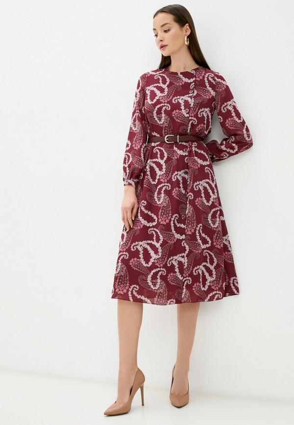 женское повседневные платье belucci, бордовое