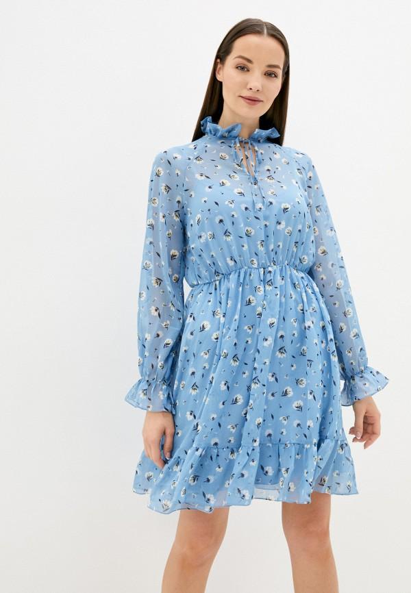 женское повседневные платье belucci, голубое