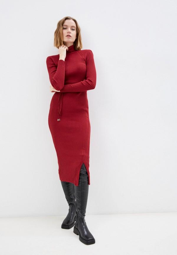 женское платье-свитеры belucci, бордовое