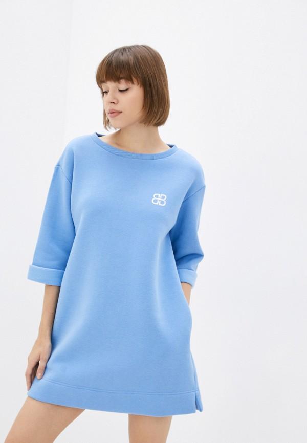 женское платье-толстовки belucci, голубое