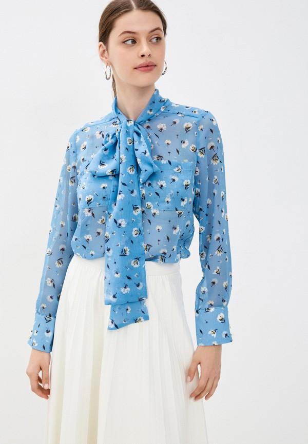 женская блузка belucci, голубая