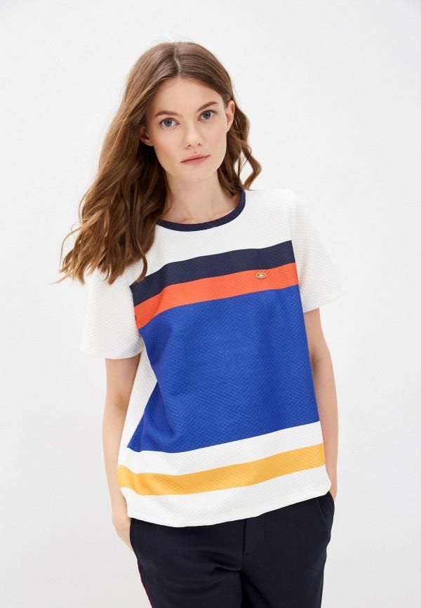 женская футболка u.s. polo assn, разноцветная