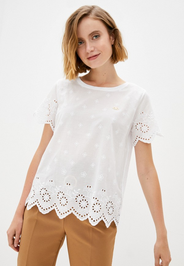 женская футболка u.s. polo assn, белая
