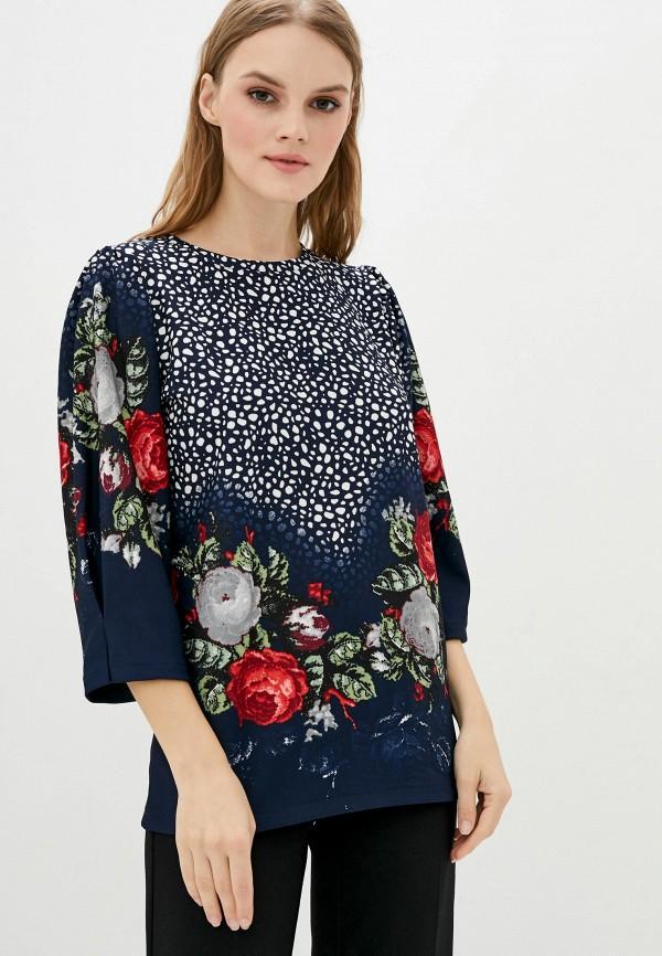 женская блузка vergans, синяя